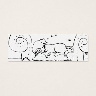 Worn out Jack Russell Puppy Mini Business Card