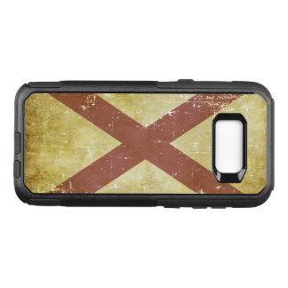 Worn Patriotic Alabama State Flag OtterBox Commuter Samsung Galaxy S8+ Case