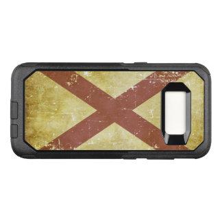 Worn Patriotic Alabama State Flag OtterBox Commuter Samsung Galaxy S8 Case