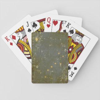 Worn Patriotic Alaska State Flag Playing Cards
