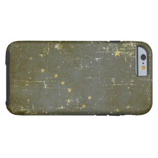 Worn Patriotic Alaska State Flag Tough iPhone 6 Case