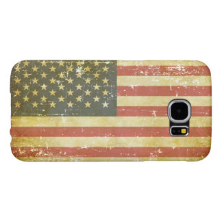 Worn Patriotic American Flag Samsung Galaxy S6 Cases