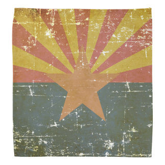 Worn Patriotic Arizona State Flag Bandana