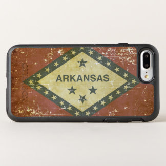 Worn Patriotic Arkansas State Flag OtterBox Symmetry iPhone 8 Plus/7 Plus Case