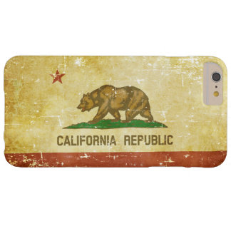 Worn Patriotic California State Flag Barely There iPhone 6 Plus Case