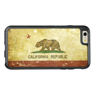 Worn Patriotic California State Flag OtterBox iPhone 6/6s Plus Case