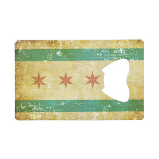 Worn Patriotic Chicago Flag