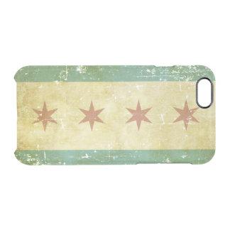 Worn Patriotic Chicago Flag Clear iPhone 6/6S Case