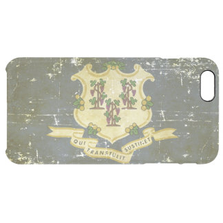 Worn Patriotic Connecticut State Flag Clear iPhone 6 Plus Case