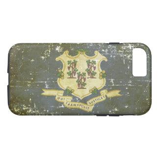 Worn Patriotic Connecticut State Flag iPhone 8/7 Case