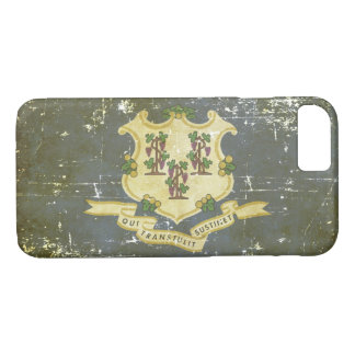Worn Patriotic Connecticut State Flag iPhone 8/7 Case