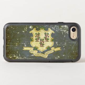 Worn Patriotic Connecticut State Flag OtterBox Symmetry iPhone 8/7 Case