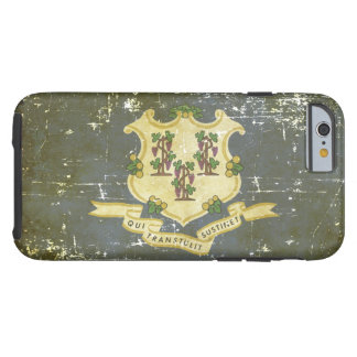 Worn Patriotic Connecticut State Flag Tough iPhone 6 Case
