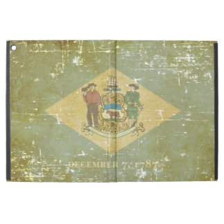"Worn Patriotic Delaware State Flag iPad Pro 12.9"" Case"