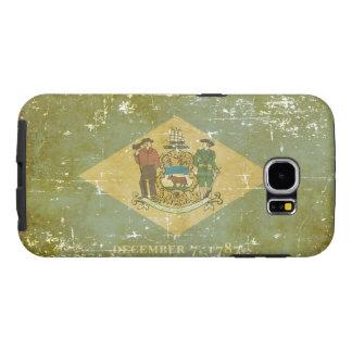 Worn Patriotic Delaware State Flag Samsung Galaxy S6 Cases