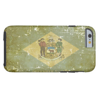 Worn Patriotic Delaware State Flag Tough iPhone 6 Case