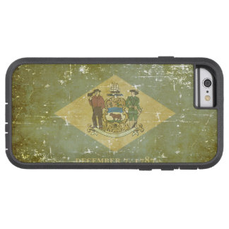 Worn Patriotic Delaware State Flag Tough Xtreme iPhone 6 Case