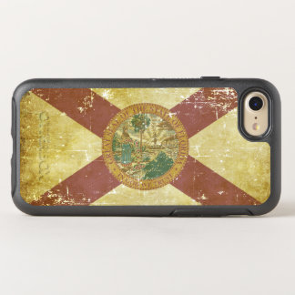 Worn Patriotic Florida State Flag OtterBox Symmetry iPhone 8/7 Case
