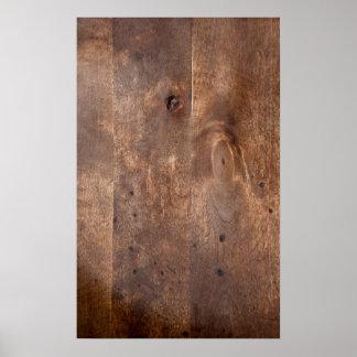 Worn pine board print