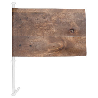 Worn pine board car flag