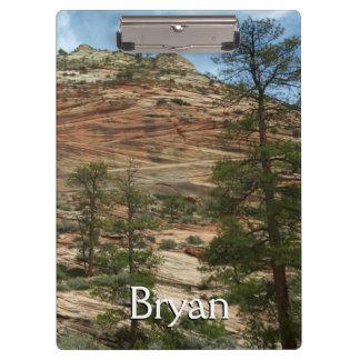 Worn Rock Walls in Zion National Park Clipboard