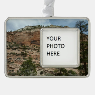 Worn Rock Walls in Zion National Park Silver Plated Framed Ornament