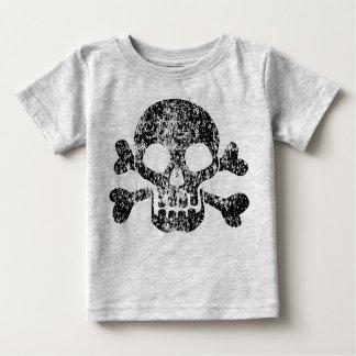 Worn Skull and Crossbones Baby T-Shirt