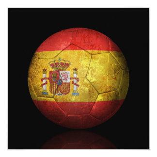 Worn Spanish Flag Football Soccer Ball Invite