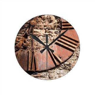 Worn Time Round Clock