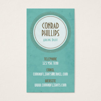 Worn Vintage Circle Graphic - Style 1 Business Card