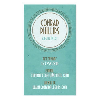 Worn Vintage Circle Graphic - Style 1 Pack Of Standard Business Cards