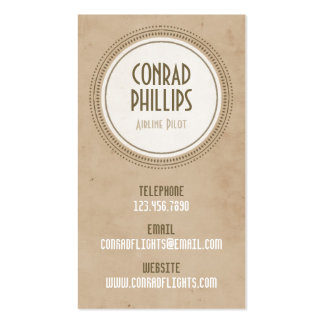 Worn Vintage Circle Graphic - Style 3 Pack Of Standard Business Cards