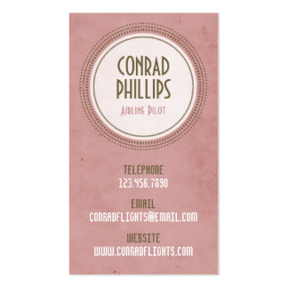 Worn Vintage Circle Graphic - Style 5 Business Cards