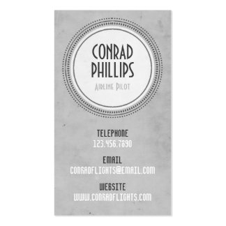 Worn Vintage Circle Graphic - Style 6 Business Card Template