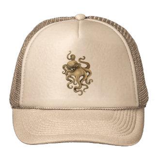 Worn Vintage Octopus Illustration Hats