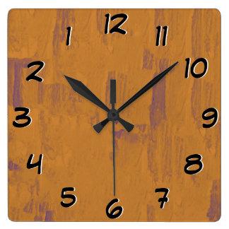 Worn Wood Look -Turn Back the Time Backwards Clock