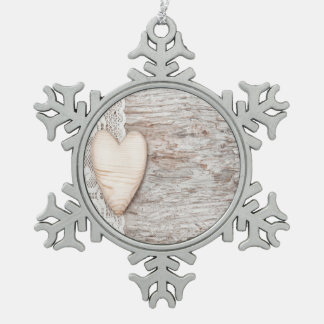 worn wood,white lace,wood heart,romantic,trendy,mo ornament