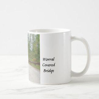Worral Covered Bridge Vermont Portal Basic White Mug