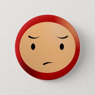 Worried Boy 6 Cm Round Badge
