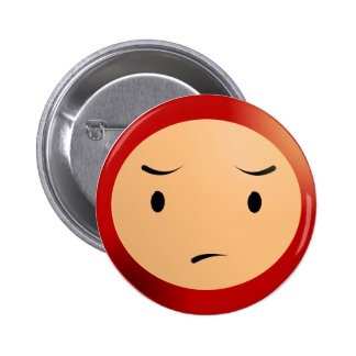 Worried Boy 6 Cm Round Badge
