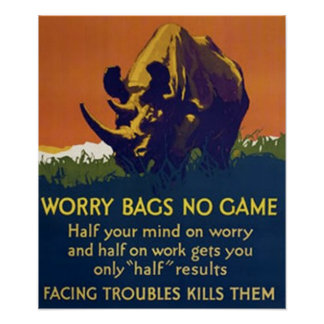 Worry Bags No Game Poster