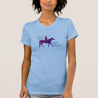 Worry Less Ride More Horseback Riding Horse Lovers T-Shirt
