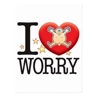 Worry Love Man Postcard