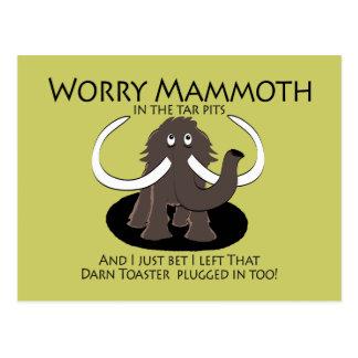 Worry Mammoth Postcard