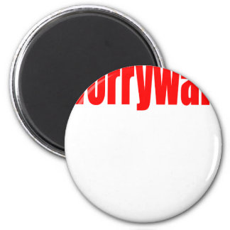worrying worry red worried release couple teenager 6 cm round magnet