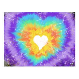 Worship Art White Heart Aqua Purple 7th Oct 17 HC Postcard