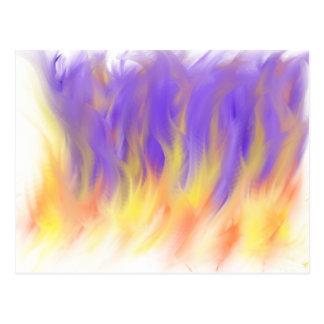 Worship Art Yellow Orange Purple Fire Dec 17 ESSL Postcard
