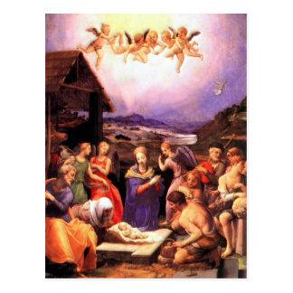Worship of the Shepherds - Bronzino Postcard
