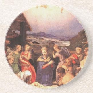 Worship_of_the_shepherds_by_bronzino Coaster