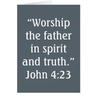 """""""Worship"""" Scripture Greeting Card"""